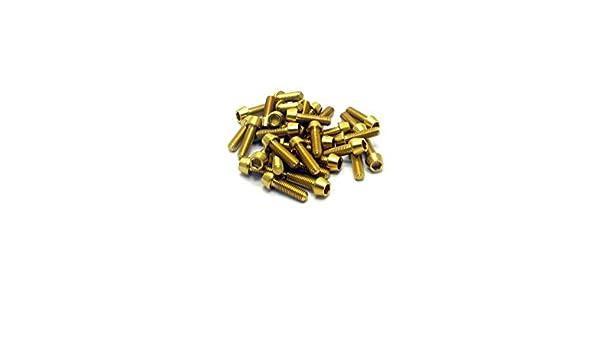 6x Titanium Tapered Bolt GR5 RacePro Gold Allen Head M6 x 20mm x 1mm