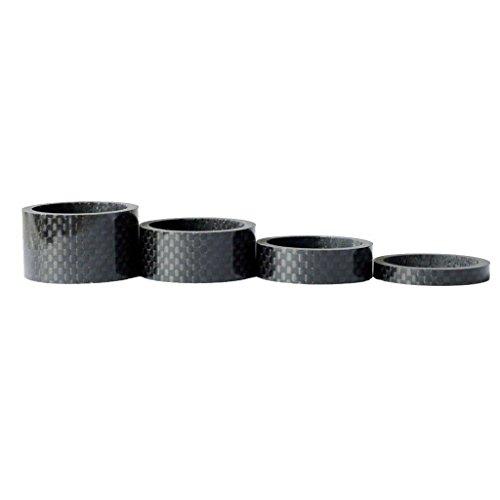 Romote 1 Satz 4pcs Fahrrad-Carbon-Faser-Spacer Headset Stem Washer 5/10/15 / 20MM -