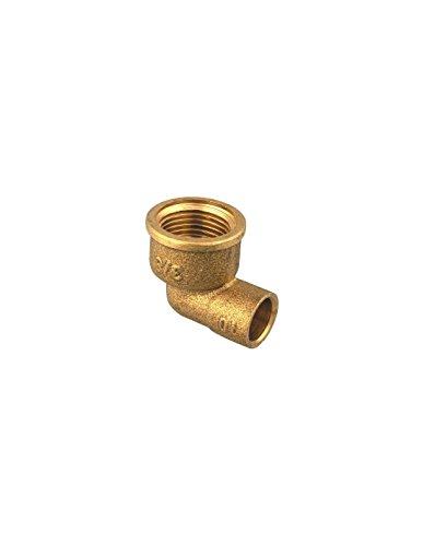 Coude laiton Femelle Raccords - Filetage 15 x 21 mm - Diamètre 14 mm - Vendu par 1