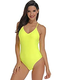 4f0a0600acbd5 TRESXS Women's Sexy One Piece Swimsuit Adjustable Criss Crossed Straps  Ruched Booty Monokinis Bathing Suits Backless