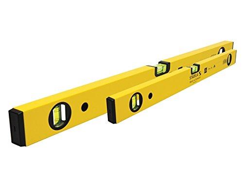 Stabila 70–2Box Abschnitt Wasserwaage Set–60cm/Bodenheringen & Seilspannsystem/120cm