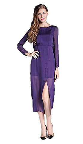 Pure Couleur rétro Robe de soie XL Photo Color