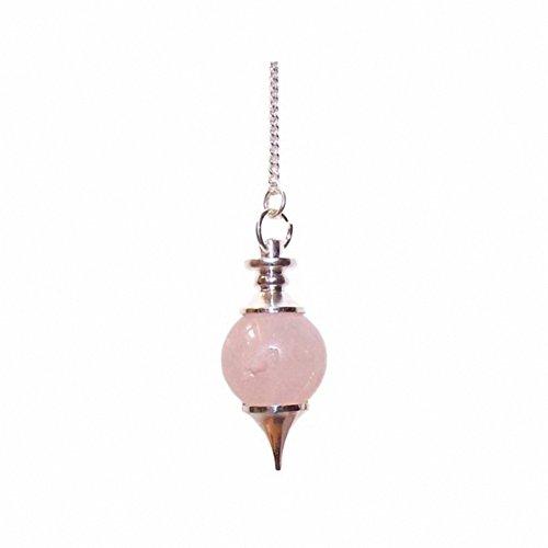 Boule En Rose Quartz-Pendulum. le cadeau Parfait-Idéal pour les anniversaires, Christmas......