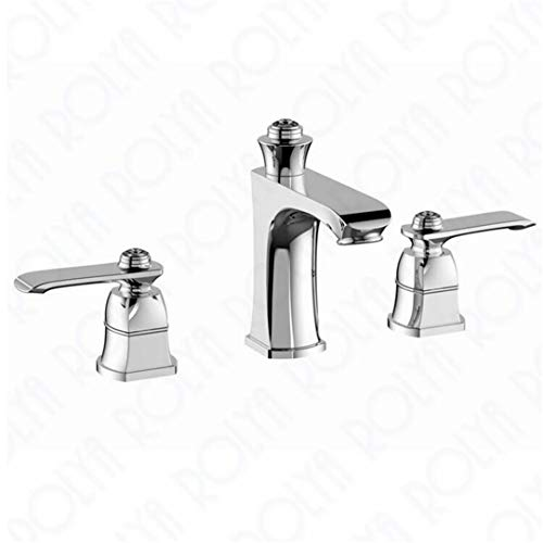 Wasserhahn Waschtischmischer Luxuriöse 8-Zoll-Weit Verbreitete Toilette Badezimmer Wasserhahn Becken Mischbatterie Rose Golden Chrome Orb Schwarz (8 Zoll Weit Verbreitete Wasserhahn)