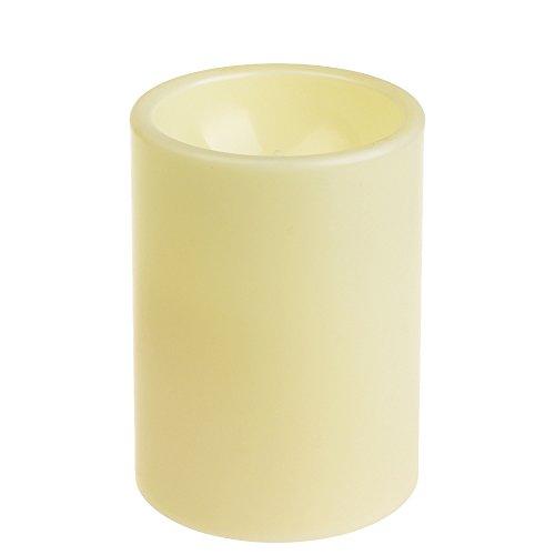 Außenkerzen Outdoor kerzen LED Kerze Flammenlose Kerze Licht Lampe Zuhause Hochzeit Party Dekorationen Flammenlose Kunststoff Stumpkerze mit Timer, 4&8 Std Timer,Elfenbein, Kunststoff, 7,6x10,2 cm (3 x 4 zoll) von Home Impressions