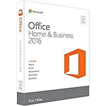 Microsoft Office Home & Business 2016 for Mac 1 licencia(s) Plurilingüe - Suites de programas (1 licencia(s), Plurilingüe, Electronic Software Download (ESD), Mac OS X 10.10 Yosemite, 6000 MB, 4096 MB)