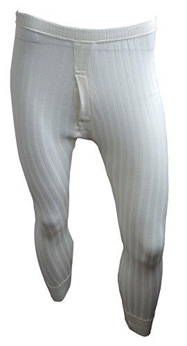 Custode® British Made classica da uomo biancheria intima termica Long Johns Pantalone Lungo Natural Cream Cintola: 147 cm- 152 cm XXXXXXL