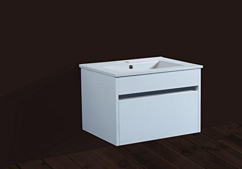 600mm blanco mueble de baño y cerámica Baisn guardarropa de pared de armario de almacenamiento