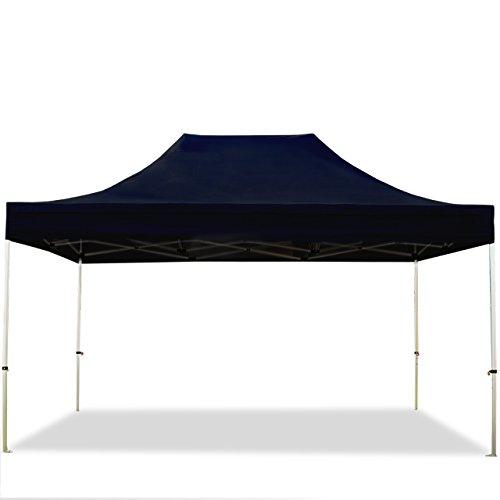Tente pliante 3x4,5 m sans bâches de côté noir PROFESSIONAL tente pliable ALU pavillon barnum INTENT24