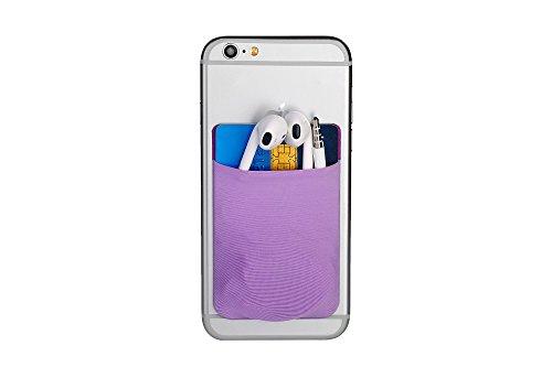 Cerbery® | Smartphone Kartenhalter | Auto Etui Fingerhalter Fitness Folie Halter Halterung Handy Hülle Kartenhülle Kopfhörer Sport | Kompatibel mit Apple iPhone 7 8 X Samsung Galaxy (Violett)