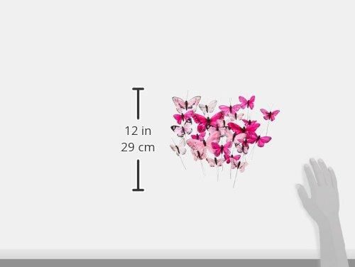 Tortendekoration Schmetterlinge - Variation in Pink (24 Stück) - 2