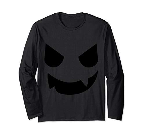Jackolantern Kostüm - Evil Pumpkin Face Halloween Kostüm Jackolantern Langarmshirt
