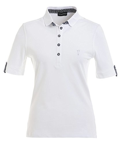 golfino-up-proteccion-s-manga-ladies-golf-polo-blanco-color-blanco-tamano-14-l