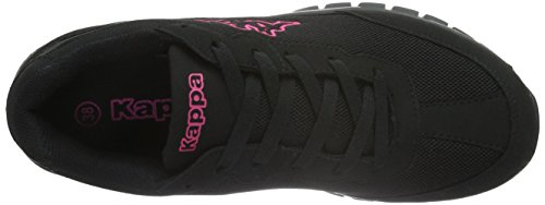 Kappa Damen Rocket Sneaker Schwarz (1122 black/pink)