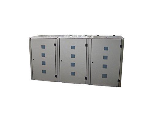 Mülltonnenbox für 3 Tonnen zu je 240 Liter - 4