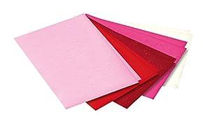 Folia 6015009-Cartón de estampación Corazones, 50x 70cm, 10pliegos, multicolor