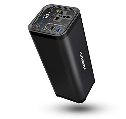 Litionite Hurakan 120W / 41600mAh Générateur d'énergie électrique Portable - 1x AC Prise de Courant - 3X USB (1x Quick Charge 3.0) - Torche LED - Chargeur pour Smartphone/Tablet/Ordinateur/CPAP/Drone