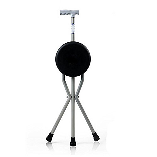 LOVE Dreibeinigen Stuhl Aluminium Faltstock ?ltere Rohr Rollator leichte Slip