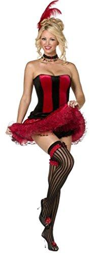 Kostüm Risque - Sexy Saloongirl Can Can Girl 5 tlg Kostüm, Größe:S