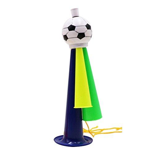 Toyvian World Cup Lautsprecher Fußball Fans Trompete Spiel Party Konzert Horn Kunststoff Ornamente Größe L (zufällige Farbe)