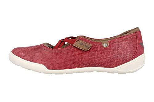 MUSTANG Shoes Ballerinas in Übergrößen Rot 1314-201-55 große Damenschuhe, Größe:42