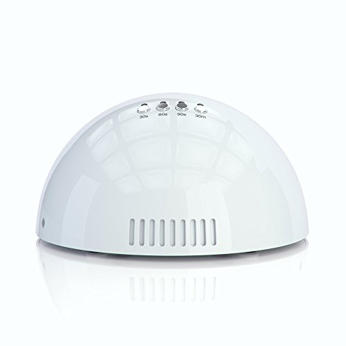 NailStar® Professioneller LED-Nageltrockner mit UV Nagellampe für Shellac und Gelnagellack Lichthärtegerät mit Timer, Tragbares Härtungsgerät für Maniküre, Aushärtungslampe für Fingernägel – weiß - 3