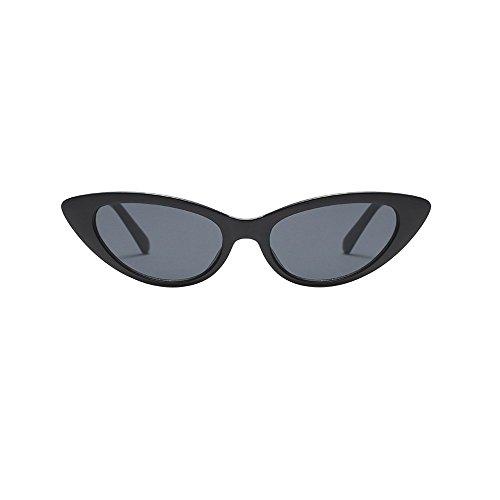 Damen Mode Cateye Sonnenbrillen Retro Kleiner Plastik Rahmen UV400 Brillen (#2 B)