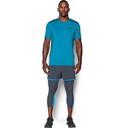 Under Armour Herren UA RAID SS' Kurzarmshirt Fitness - T-Shirts & Tanks, Blue Shift, Small V-neck Shift