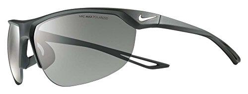 Nike Golf Cross Trainer P Sunglasses, Matte Black/Silver Frame, Polarized Grey Lens image