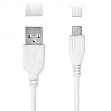 Blanc 50cm long USB Data Sync câble de charge pour–Samsung Galaxy S7bord g935F 32Go–Téléphone portable
