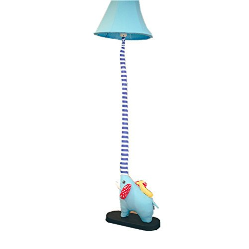 GX Éléphant lampadaire,Chambre Lampe Salon Chambre D'enfants Rustique Style Tissu Lampe Décoration d'intérieur (bleu) A+
