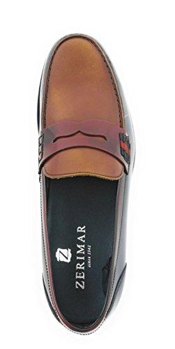 Zerimar Homme Chaussures | Chaussures Élégantes Pour Hommes | Chaussures De Classe Pour Hommes | Sscarpa Mocassin En Cuir Pour Homme | Chaussures En Cuir Pour Hommes | Cuir Bordeaux Bleu Marine