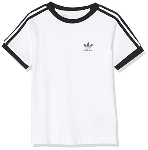 adidas Baby 3-Streifen Trainingsshirt, White/Black, 98