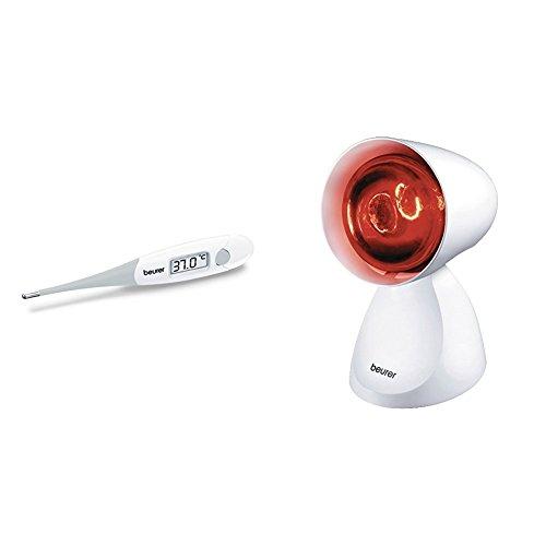 Beurer 791.09 FT 13 Fieberthermometer mit extra flexibler Messspitze + IL 11 Infrarotlampe, Medizinprodukt zur Anwendung bei Erkältung und Muskelverspannung, 5 Neigungsstufen (Orale Quecksilber-thermometer)