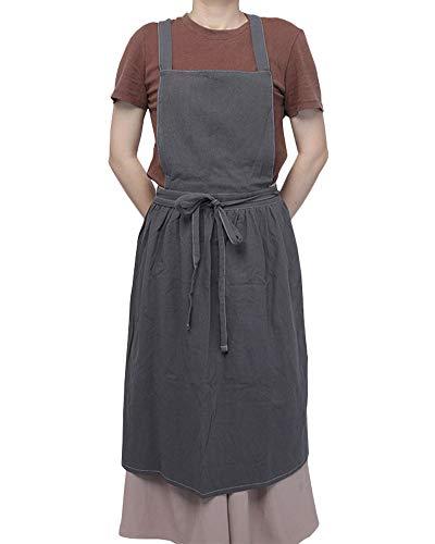DianShaoA Kochschürze/Küchenschürze Einfach Zu Reinigen - Perfekt Auch Als Grillschürze Und Backschürze Grau(Keine Tasche)