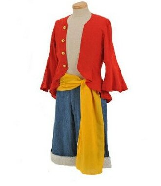 Anime japonais One Piece Monkey D. Luffy Cosplay Costume - 2 ans plus