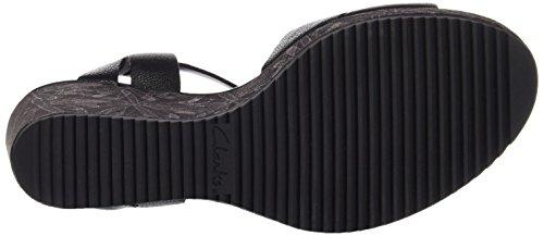 Clarks Adesha River, Sandales Bout Ouvert Femme Noir (Black Leather)