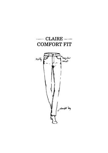 Oklahoma Jeans Damen Slim Jeans Claire Blau (Medium Blue 039)
