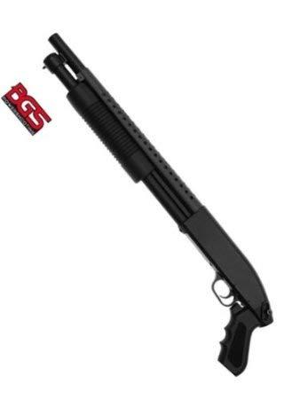 Softair Pumpgun M58B Waffe Softair-Gewehr ca. 1,4kg schwarz Speedloader unter 0,5 Joule ab 14 J.