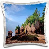 Rock Formations - New Brunswick, Bay of Fundy. Hopewell Rocks 16x16 inch Pillow Case