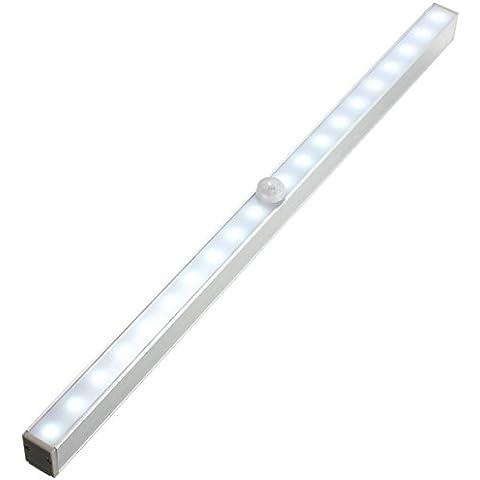 20 LED Sensor de Movimiento Inalámbrico de Energía de la Batería del Gabinete luz de la Noche