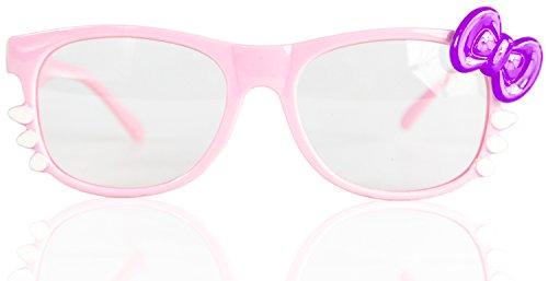 ne Seh-Stärke Damen Fenster-Glas Fasching Karneval Rosa Lila Panto-brille Wayferer Horn-Brille Party-Brille (Nerd Halloween Kostüme Für Mädchen)