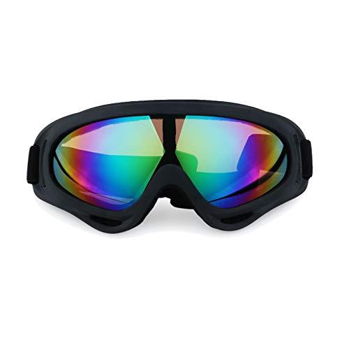 DOLOVE Schneebrille Retro Sportbrille Radfahren Schutzbrille Antibeschlag Bunten