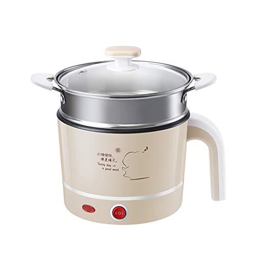 WYF Cocina portátil hervidor eléctrico Hervidor Multifuncional Mini para cocinar Sopa de Avena y Steamed Food1.2L (Reino Unido Plug) (Tamaño : S)