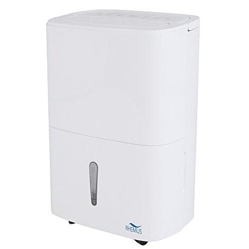 RHEMUS Luftentfeuchter RT 25 (20 Liter/Tag, 5 Liter Wassertank, Raumgröße bis 50 m², Design-Gehäuse, GS geprüft)