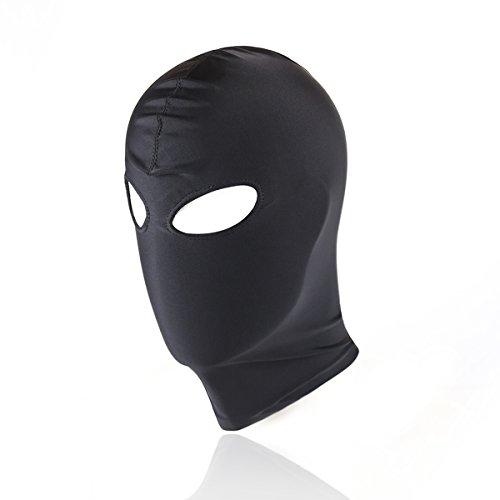 Kopfmaske SM Bondage-Maske Fetisch-Maske Spandex Stoffmaske BDSM (2-Loch Öffnung) - Spandex Hat