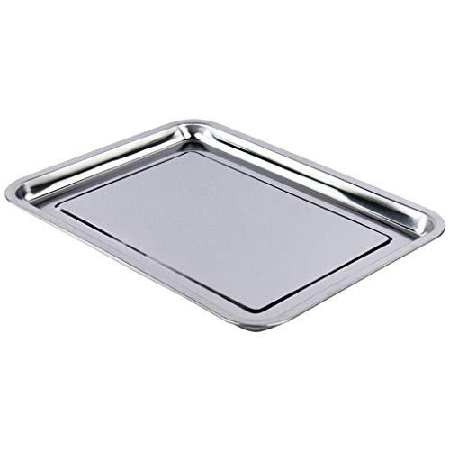 CYGJLYZ Tablett Edelstahl Tablett Grill Tablett Lebensmittel Tablett Edelstahl Tablett (Size : 40 * 30cm) -