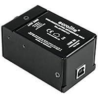 Eurolite USB-DMX512 PRO Interface MK2 | USB-DMX-Interface mit stabiler DMX-Ausgabe, dank integriertem Prozessor | Profi-USB-DMX-Interface zur Steuerung von DMX-Geräten mit einem Computer | Spannungsversorgung über USB