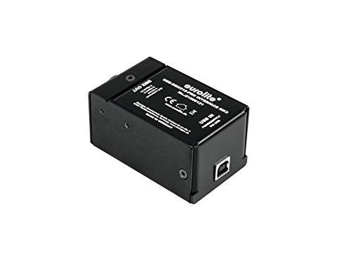 Eurolite USB-DMX512 PRO Interface MK2 | USB-DMX-Interface mit stabiler DMX-Ausgabe, dank integriertem Prozessor zur Steuerung von DMX-Geräten mit einem Computer | Spannungsversorgung über USB