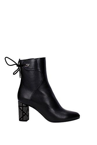 chaussure-mi-montantes-christian-dior-femme-cuir-noir-et-argent-kci352cass900-noir-38eu